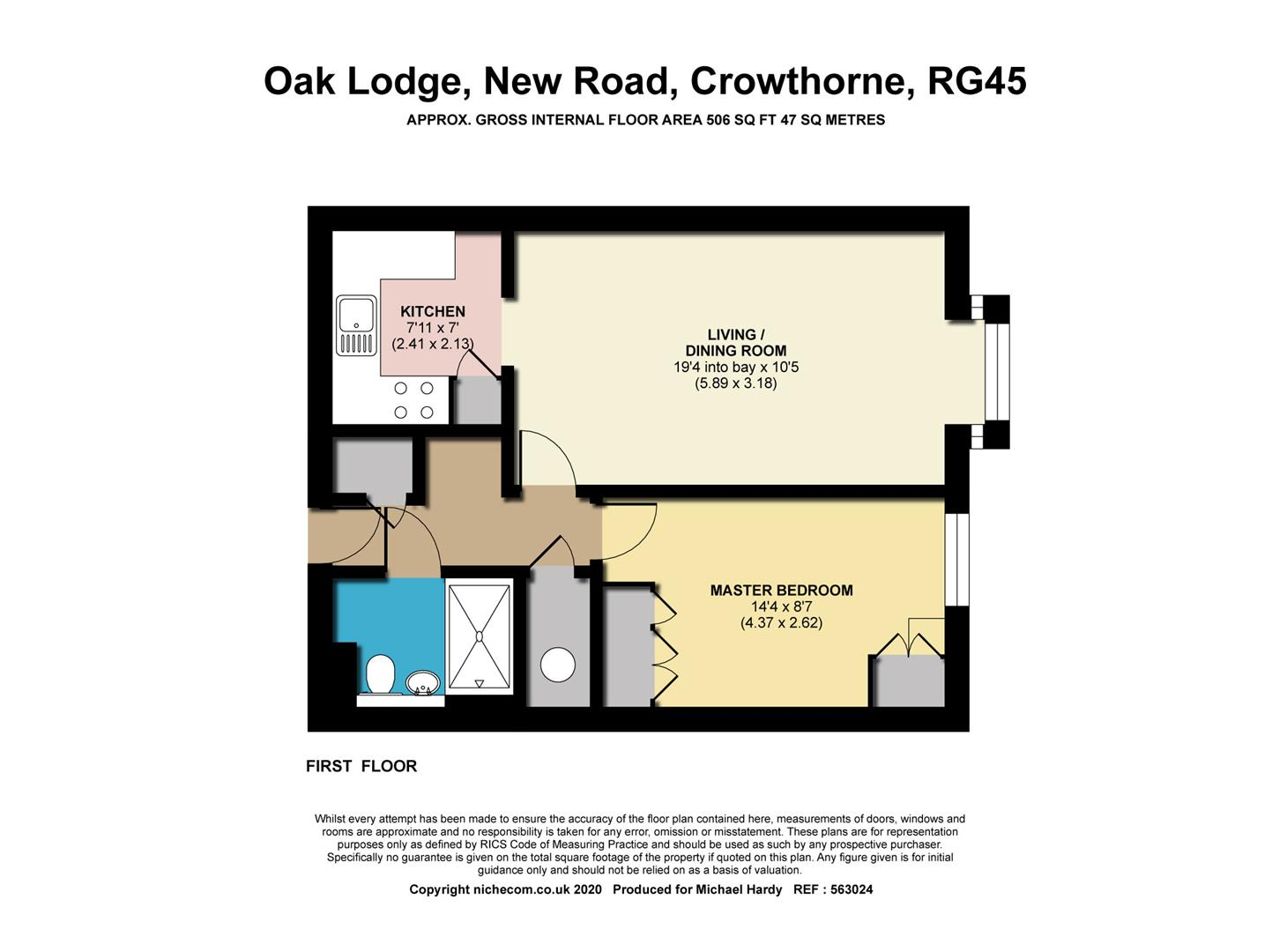 Floorplans For New Road, Crowthorne, Berkshire RG45 6SL